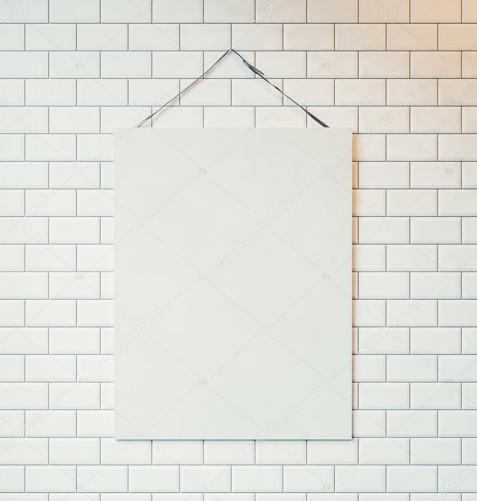 toile blanche accroch e au mur photographie kantver 70718343. Black Bedroom Furniture Sets. Home Design Ideas