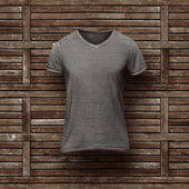 Dark grey t-shirt isolated — Stock Photo
