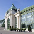 The glass palm house in City garden of Vienna, Austria — Stock Photo #71779849