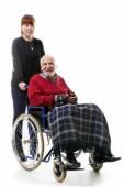在轮椅上的男人 — 图库照片