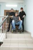 Man on wheelchair — Stock Photo