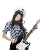 Funny sailor woman — ストック写真