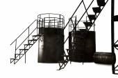 Industrial metal stairs — 图库照片
