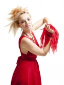 Hermosa mujer rubia — Foto de Stock