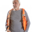 Senior man in life vest — Stock Photo #78910280