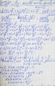 正方形的纸,用数学公式 — 图库照片