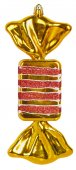 Bright Christmas tree toy yellow candy — Stock Photo