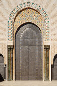 Morocco. Detail of Hassan II Mosque in Casablanca — Stockfoto