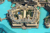 View of Dubai downtown from above. Souk al Bahar — Stock Photo