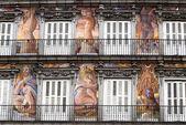Plaza Mayor's painted facades — Stock Photo
