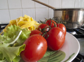 Pasta with tomato — Stock Photo