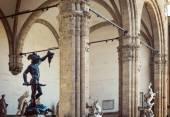 Loggia dei Lanzi, Piazza Della Signoria, Florence — Stock fotografie