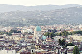 Florence - Outlook from Michelangelo square to Synagogue — Stock Photo