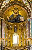 Mosaic Byzantine rite in Sicily — Stock Photo