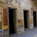 Fresco in Pompeii house — Stock Photo #72318479