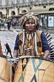 Musician Native Americans — Stock Photo
