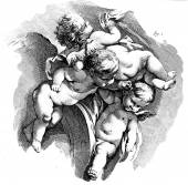 Flying putti, Cherub — Stock Photo