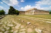 Temple of Hera the famous Paestum archaeological  site in Italy — Stock Photo