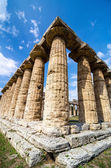 Temple of Hera the famous Paestum archaeological  site . Italy — Stock Photo