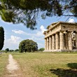 Archaeological  site of Paestum , Temple of Hera . Italy — Stock Photo #75073227