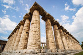 Temple of Hera  the famous Paestum archaeological  site. Italy — Stock Photo
