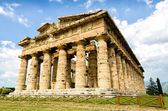 Temple of Neptune the famous Paestum archaeological  site today — Stock Photo