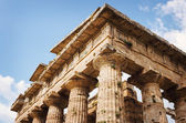 Close up of Temple of Neptune in Paestum. Italy — Stock Photo