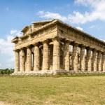 Temple of Neptune in Paestum. Italy — Stock Photo #76845223