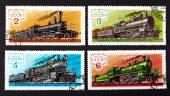 USSR - CIRCA 1979: a series of stamps printed in USSR, shows trains, CIRCA 1979 — Stock Photo