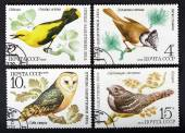 USSR - CIRCA 1979: a series of stamps printed in USSR, shows birds, CIRCA 1979 — Stock Photo