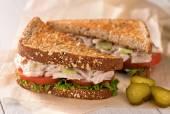 Chunky Tuna Salad Sandwich — Stock Photo