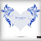 Sevgililer günü background.vector Gösterim için güzel kalp — Stok Vektör