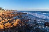 Denia Alicante Las rotas rocky beach in Spain — Foto Stock