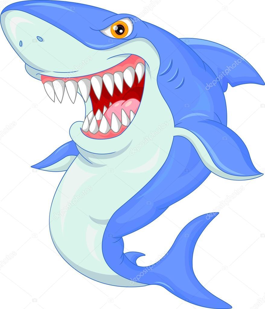 Desenho De Tubarão Com Raiva