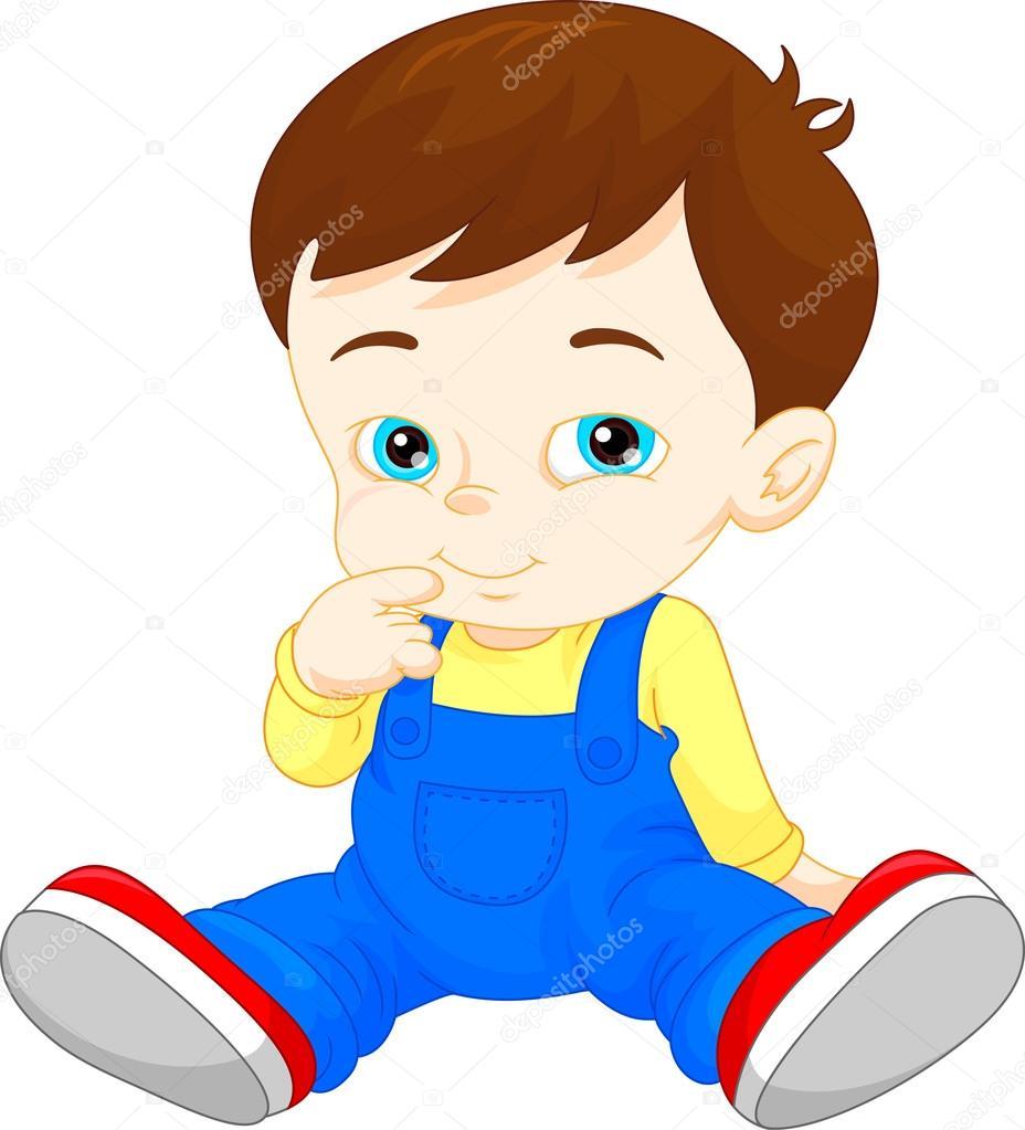 Dessin anim mignon petit gar on image vectorielle - Dessin petit garcon ...