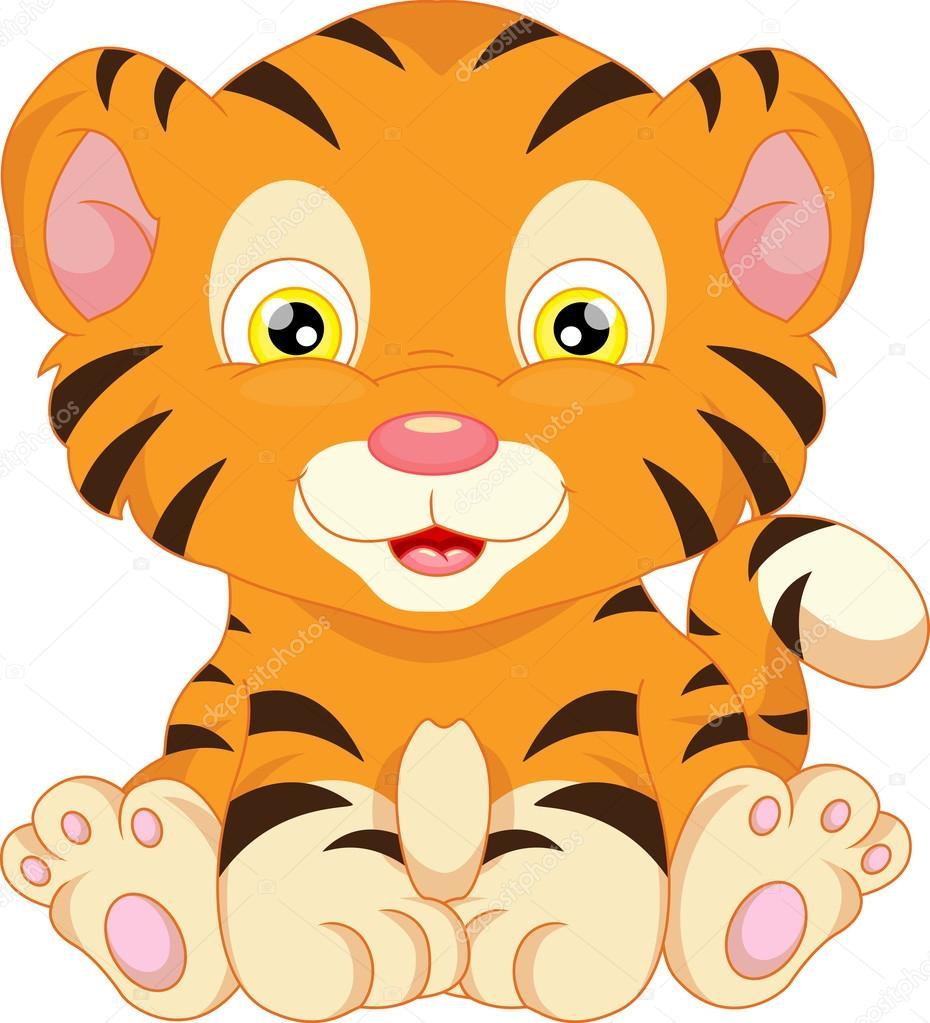 mignon b u00e9b u00e9 tigre dessin anim u00e9 image vectorielle baby jungle animal clip art free baby shower jungle animals clipart