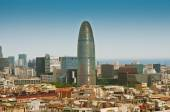 BARCELONA, SPAIN - JUNE 12, 2014: Landscape of Barcelona and Agb — Stockfoto