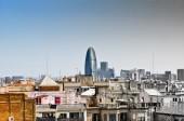 Barcelona landmark. Toned image — Stok fotoğraf