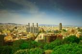 Flygfoto över barcelona från Montjuïc — Stockfoto