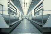 Metro wagon interior — Stock Photo