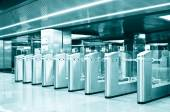 Turnstiles in the underground  — Stockfoto