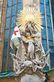 VIENNA, AUSTRIA - OCTOBER 08, 2014: Statue of St. Francis at Ste — Stockfoto