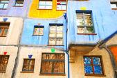 VIENNA, AUSTRIA - OCTOBER 10, 2014:  Hundertwasser Haus in Vienn — Stock Photo