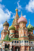 St. Basil's Cathedral at Red Square in Moscow — Stock Photo