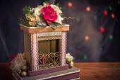 Sweet fireplace. — Stock Photo