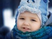 Boy with scarf — Stock Photo