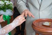 Dress wedding ring — Stock Photo