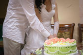 A wedding cake — Stock Photo