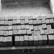 Alphabets stamp in the box. — Stock Photo #71118957