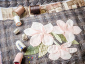 Tailoring Hobby Accessories. Sewing Craft Kit,Quilting — Stock Photo
